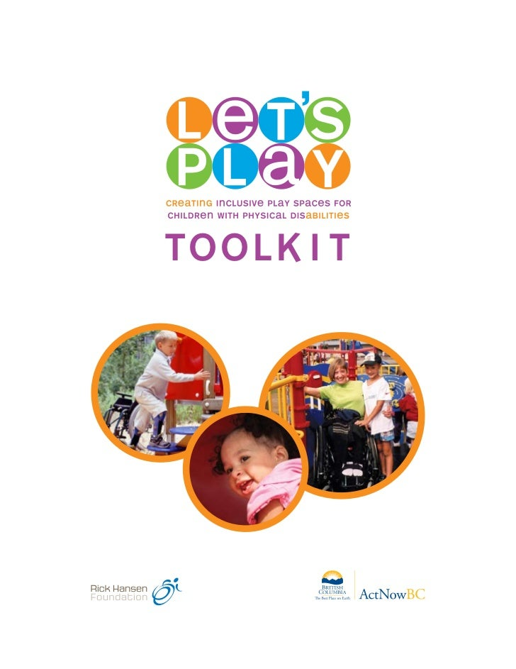 Lets Play: A Toolkit for Children with Disabilities