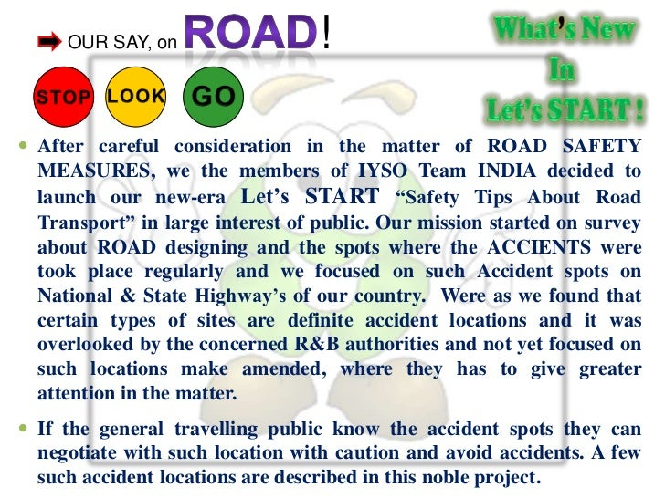 safety rules on road essay