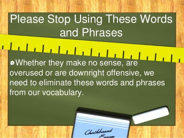 How to make a sentence using these words