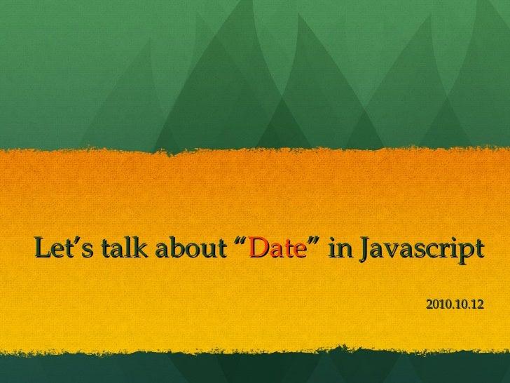 Date javascript