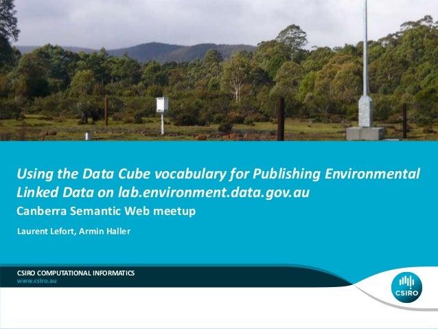 Using the Data Cube vocabulary for Publishing Environmental Linked Data on lab.environment.data.gov.au Canberra Semantic W...