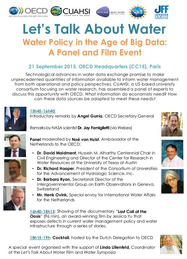 lets talk about water Solving our global water and sanitation issues in a post-2015 world requires more than simply counting beneficiaries.