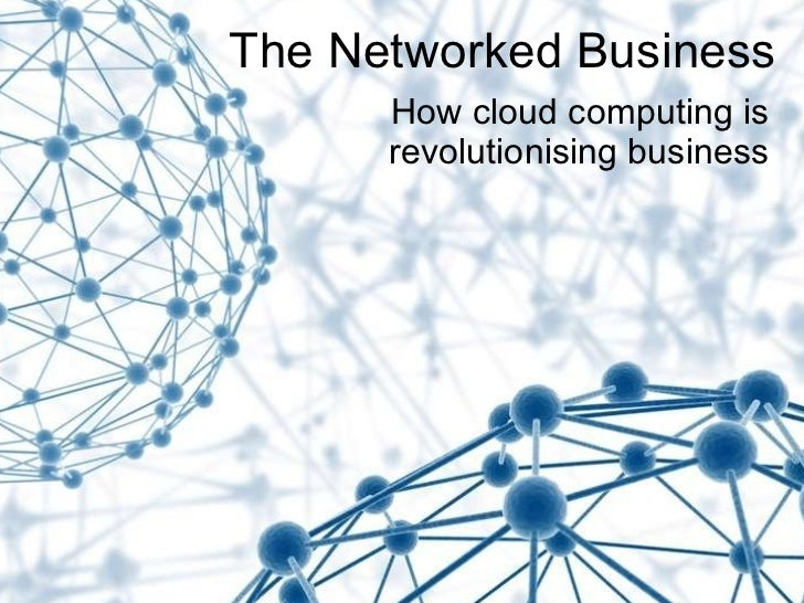Lets talk business: Cloud computing for the small and start up business.