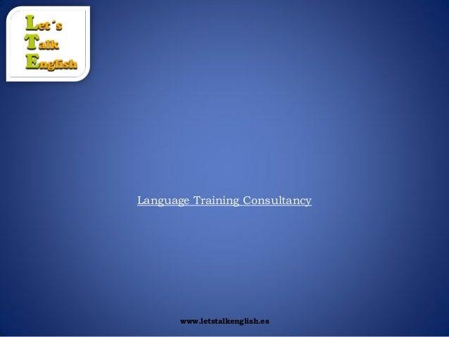 Let´s talk english 2013 presentation