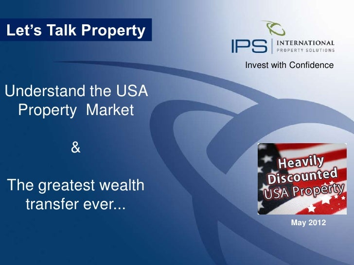 Understand the USA Property Market - The Greatest Wealth Transfer is taking place right now!