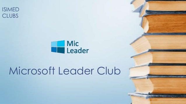 ISIMEDCLUBS  Microsoft Leader Club
