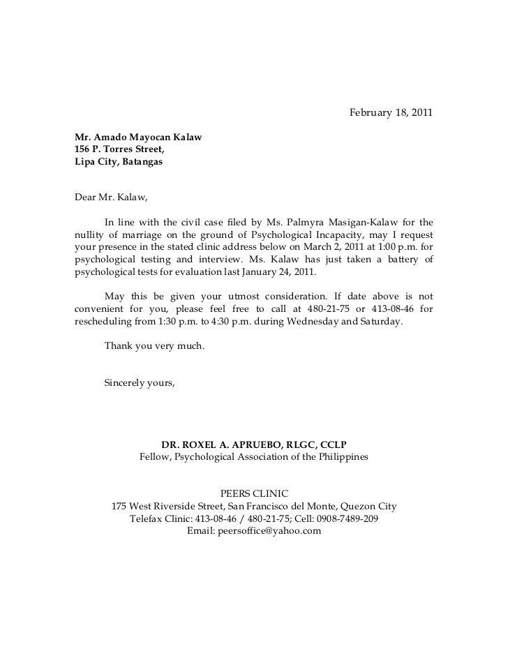 Letter  kalaw