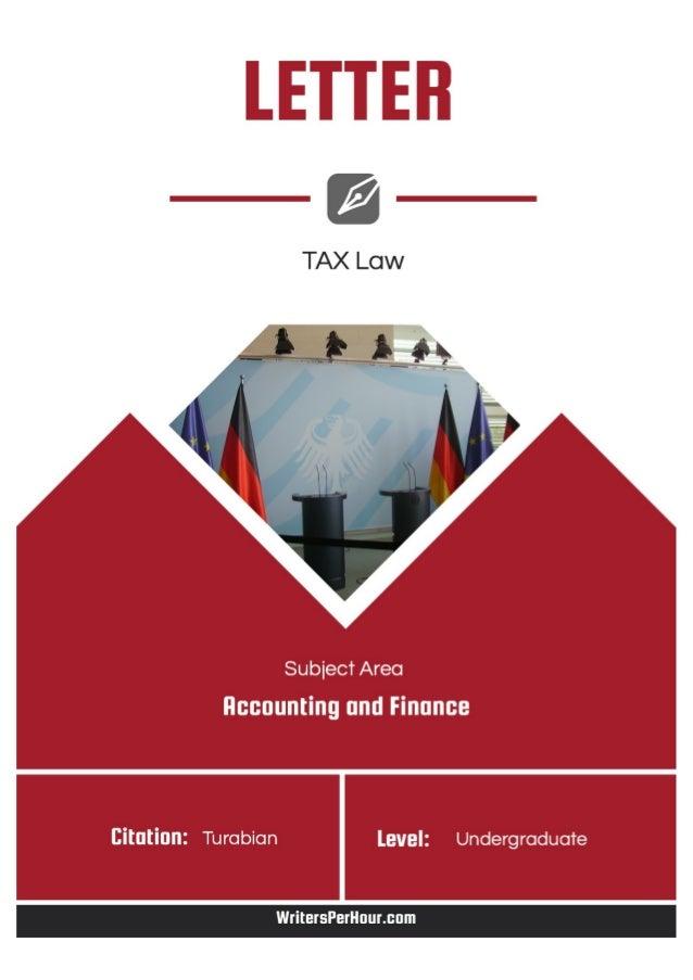 Tax accounting essays