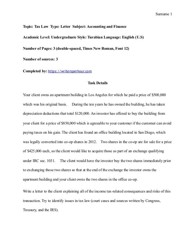 Example of mla essay format