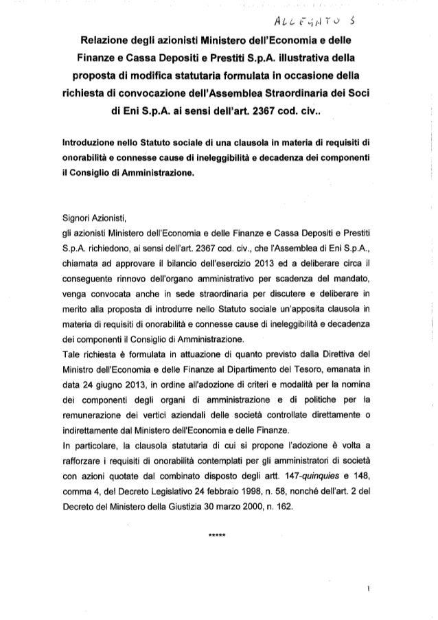 Lettera ministero economia