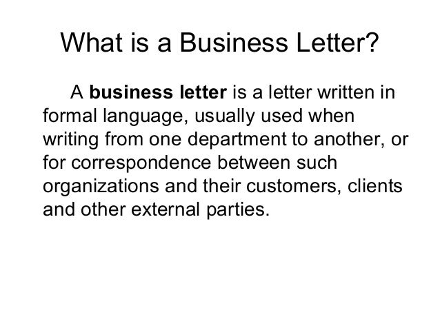 business letter report writing
