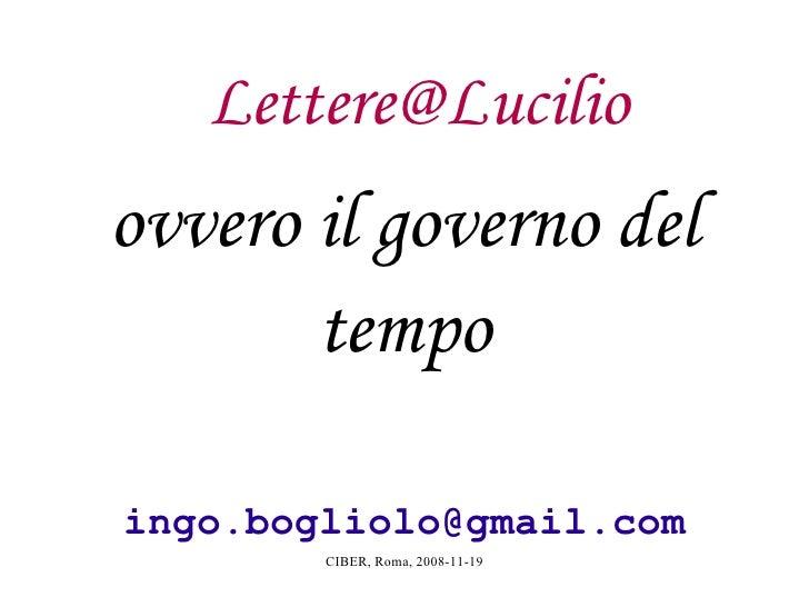 Lettere@Lucilio