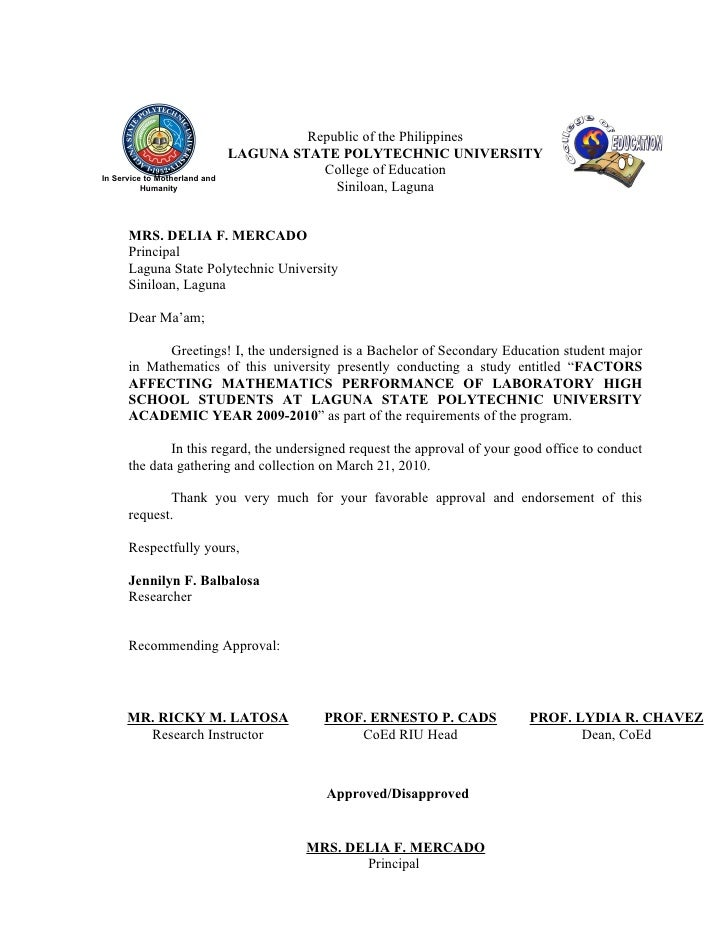 Specimen Of Application Letter
