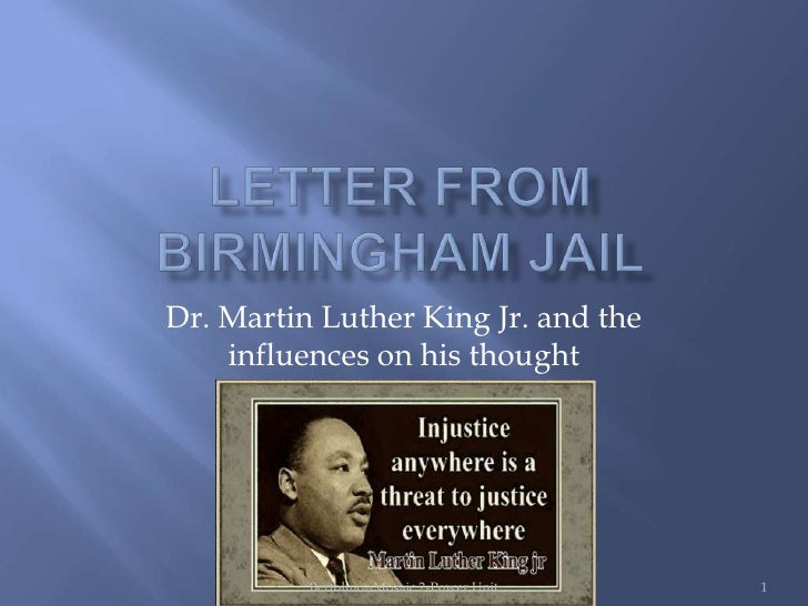 Dr. Martin Luther King Jr. and the    influences on his thought          Bertolino--Mosaic 2-Power Unit   1