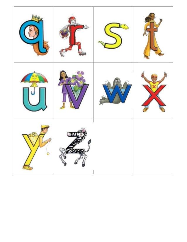 Letterland Letter Ring on Alphabet Flash Cards