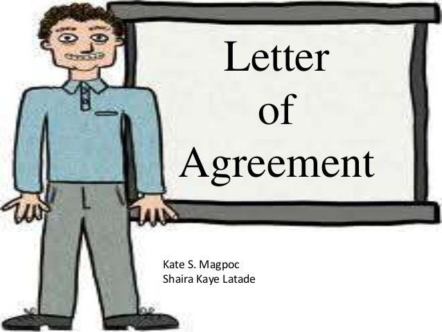Letter of agreement