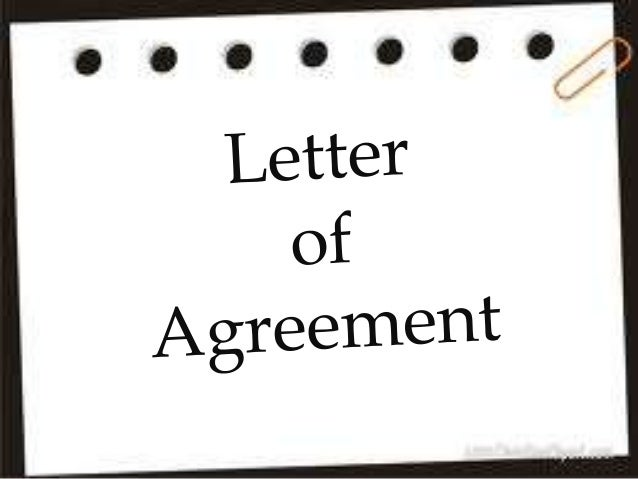 Letter of agreement main
