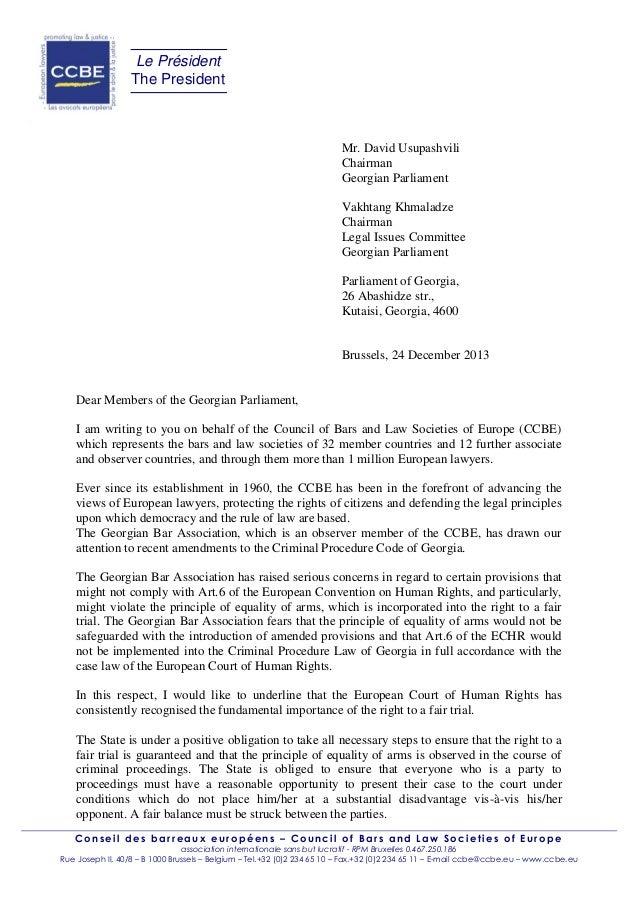 Le Président The President  Mr. David Usupashvili Chairman Georgian Parliament Vakhtang Khmaladze Chairman Legal Issues Co...