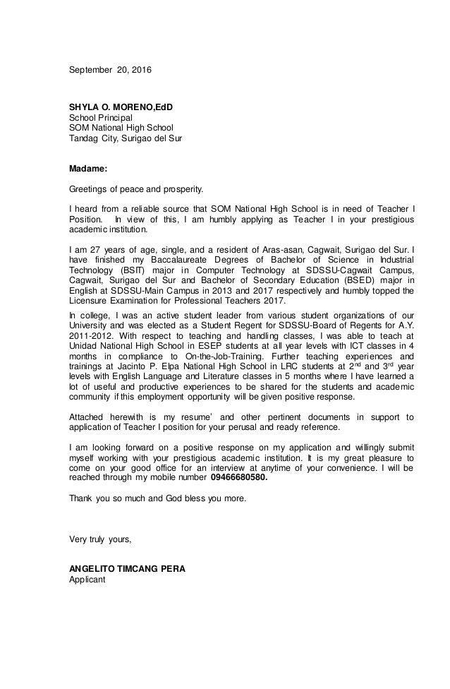 Application Letter Dan Terjemahan Application Letter Dan