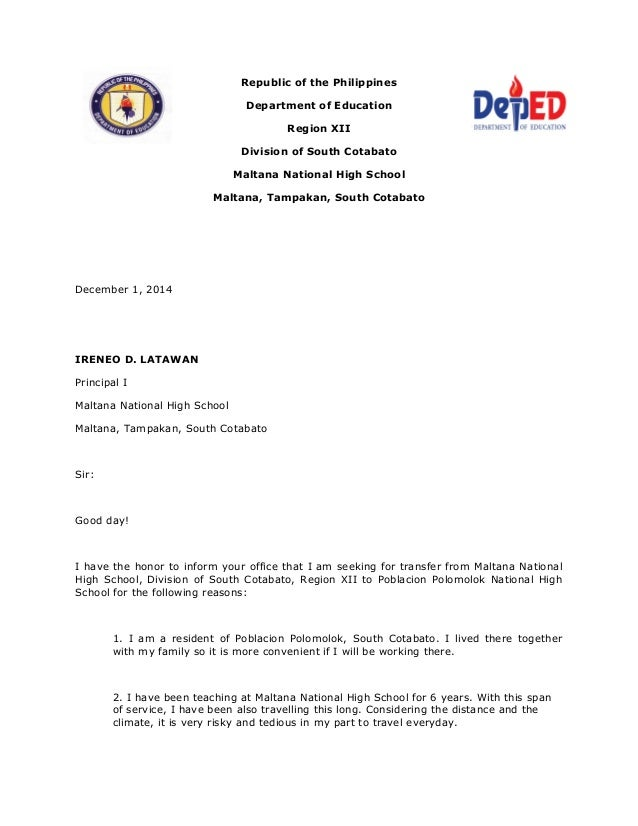 application letters for teachers in the philippines