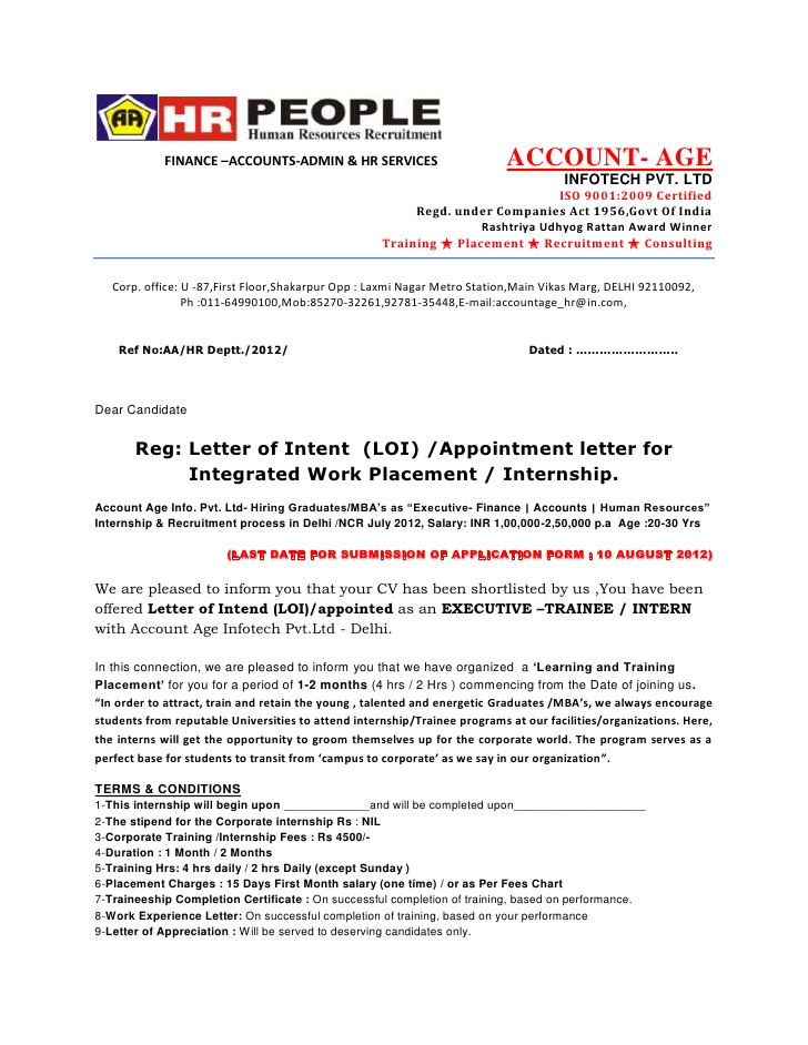 sample letter of designation