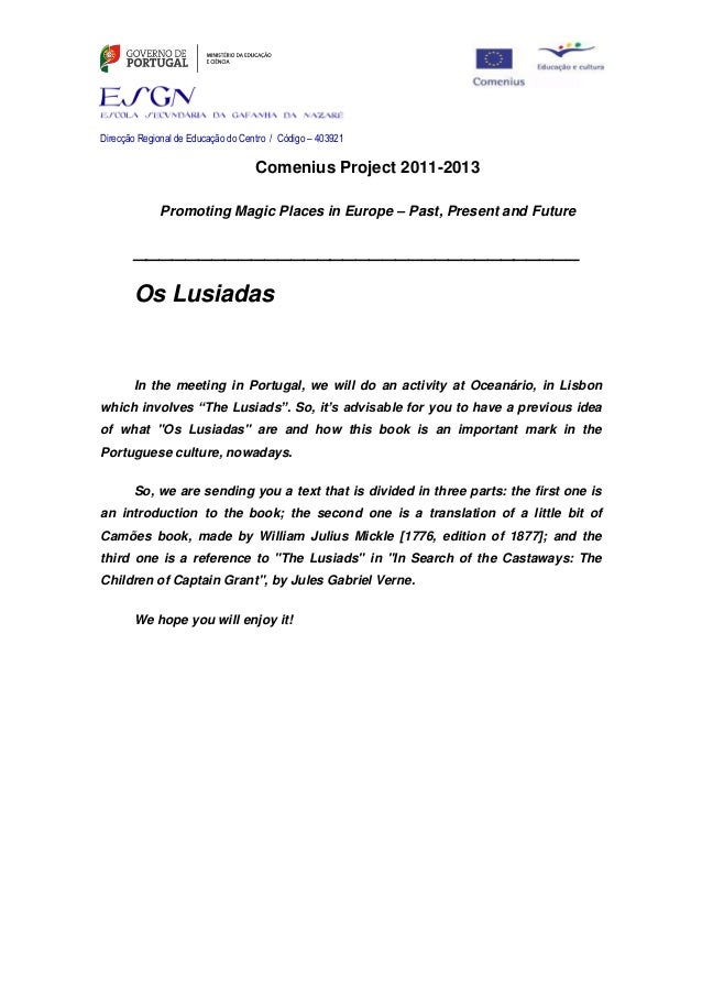 Letter os lusiadas for colleagues and students
