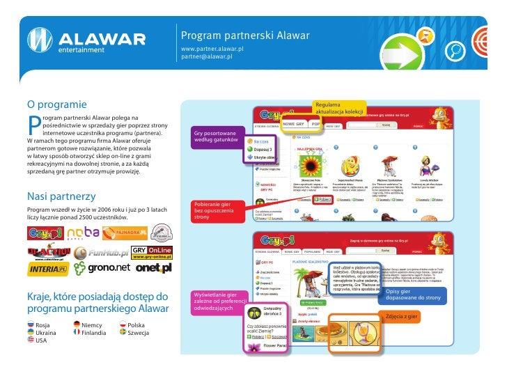 Program partnerski Alawar                                                        www.partner.alawar.pl                    ...