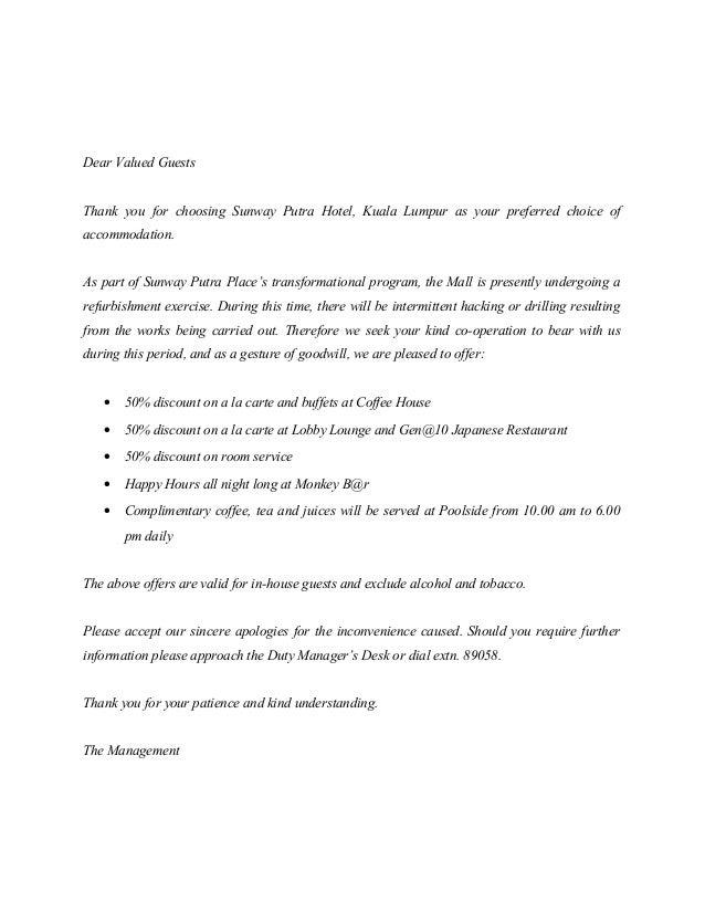Letter Renovation Works Offer Discount
