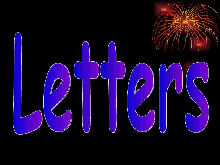 Letters..