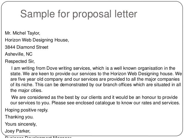 Doc581608 Sample Sales Proposal Letter Sales Proposal Cover – Sample Product Proposal Letter