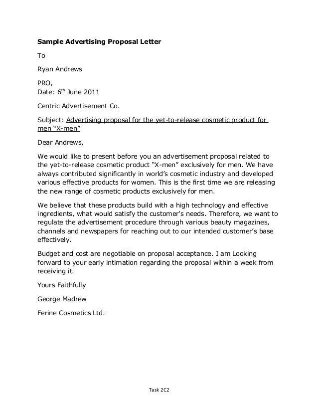 Doc.#600842: Format For Proposal Letter – Business Proposal Letter