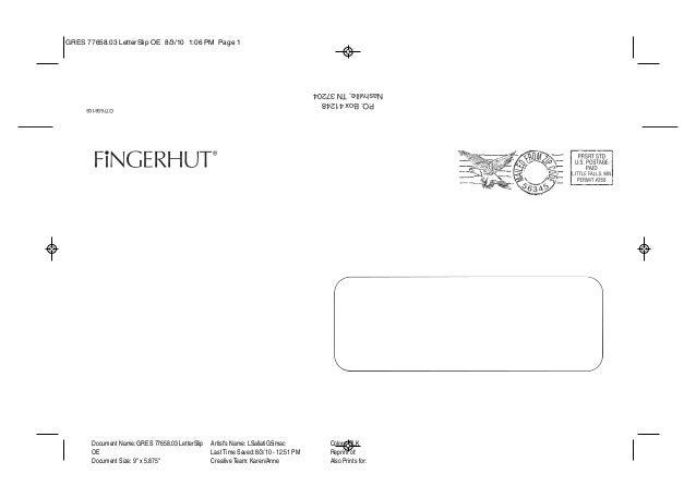Letter slip