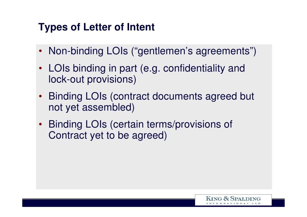 intent sample of binding non letter