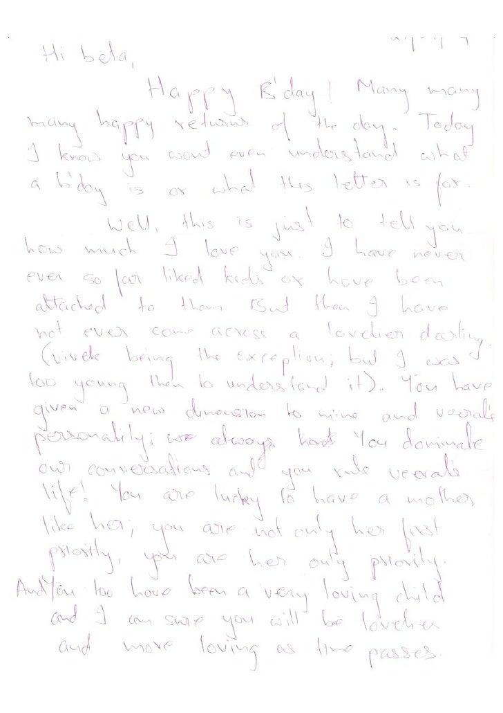 Letter To Aaryana 2004