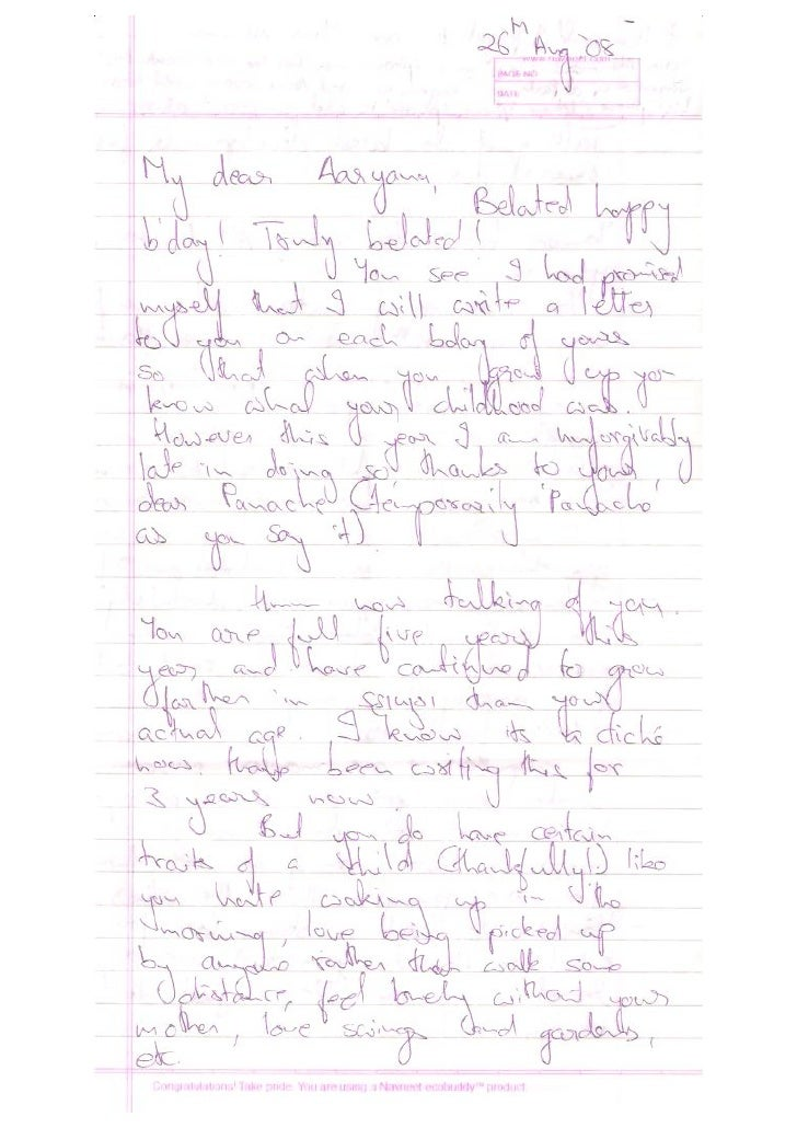 Letter To Aaryna 2008
