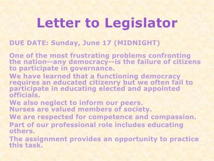 Letter to legislator 49488