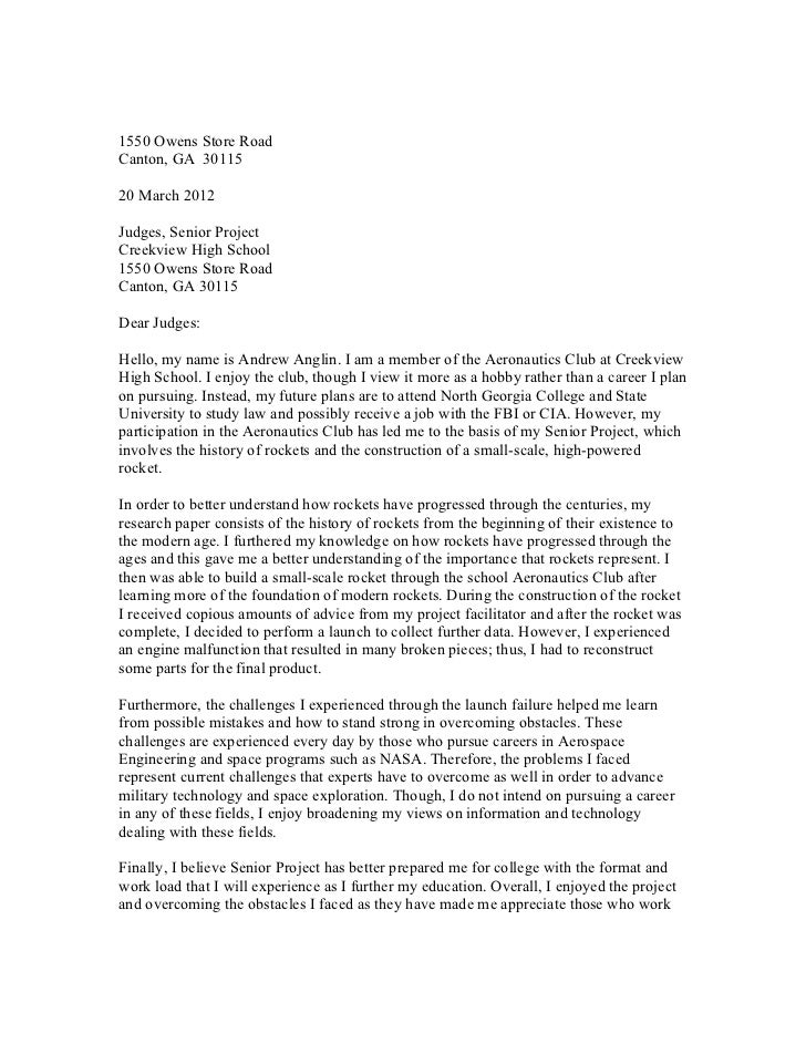 Letter to the Judges 2011-12