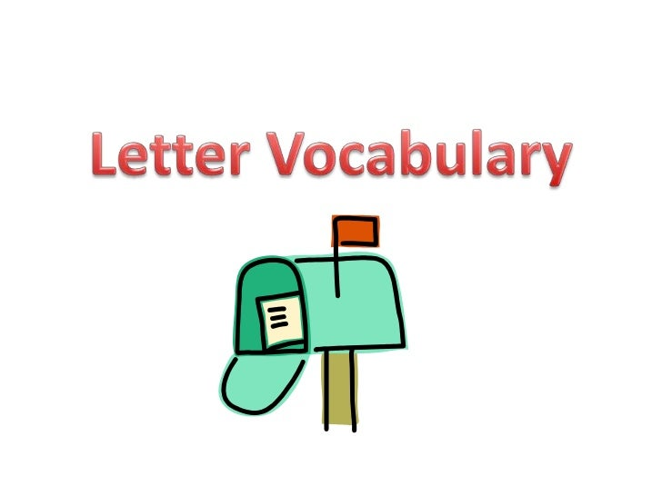 Letter vocabulary
