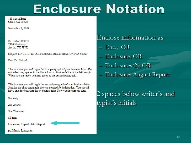 Enclosure notation on cover letter mersnoforum enclosure spiritdancerdesigns Gallery