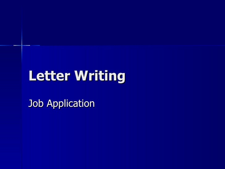 Letter Writing Job Application