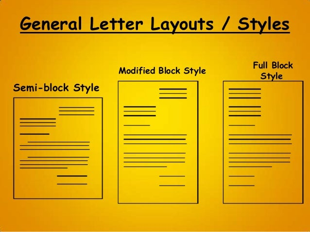 block style letter format template