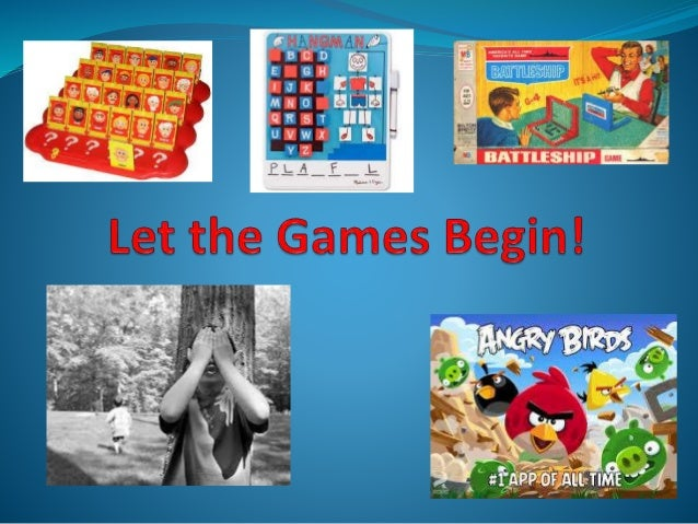 Let the games begin!  (Games for AAC Users)
