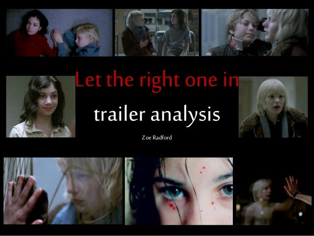 let the right one in analysis Find all available study guides and summaries for let the right one in by john ajvide lindqvist if there is a sparknotes, shmoop, or cliff notes guide, we will have.