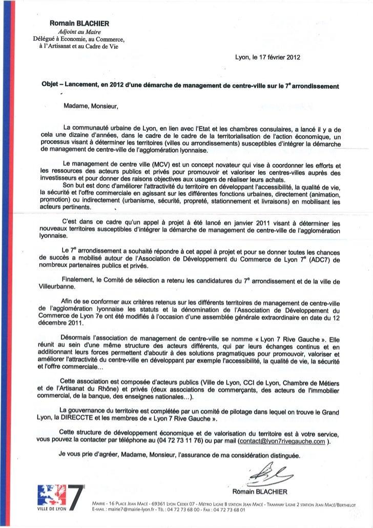 lettre de pr u00e9sentation du management de centre