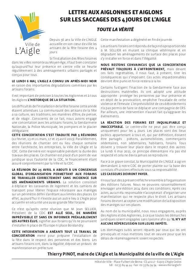 L'AigleVille deDepuis 56 ans la Ville de L'AIGLEaccueille en son cœur de ville lesartisans de la fête foraine des 4jours.S...