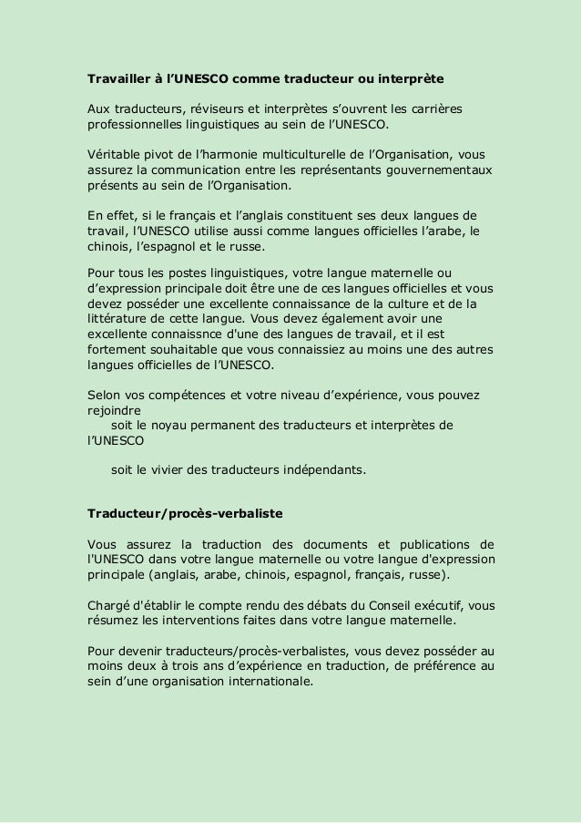 lettre de motivation interprete