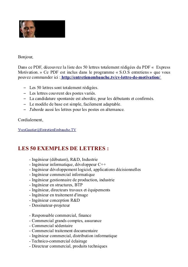 modele lettre motivation responsable administratif financier