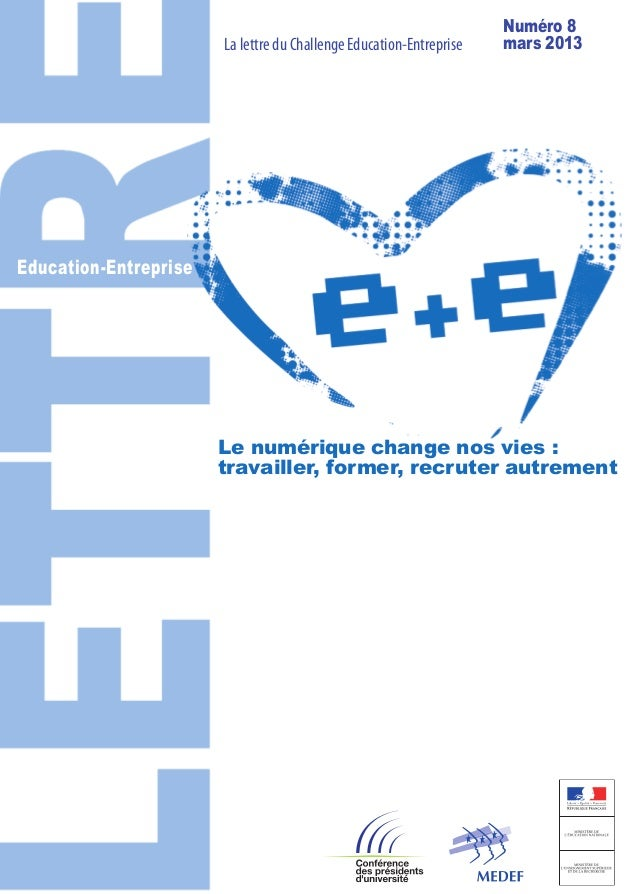 Lettre du challenge Education-Entreprise