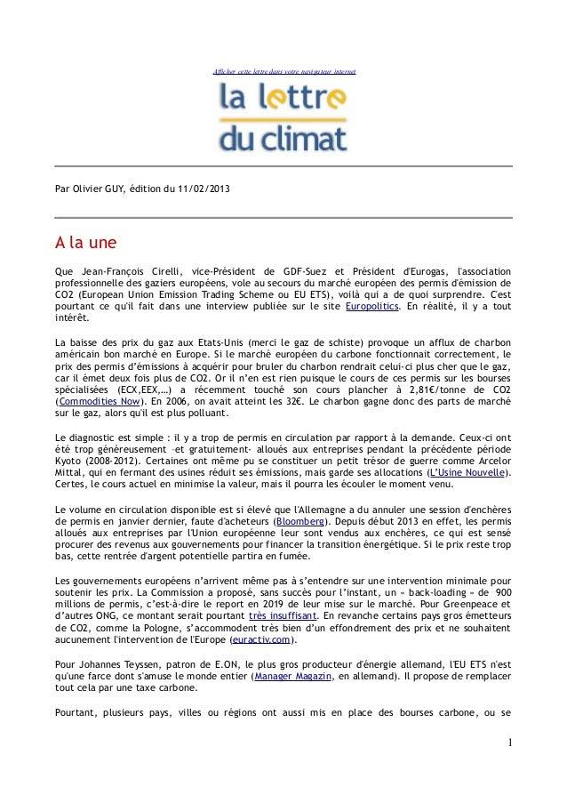 Afficher cette lettre dans votre navigateur internetPar Olivier GUY, édition du 11/02/2013A la uneQue Jean-François Cirell...