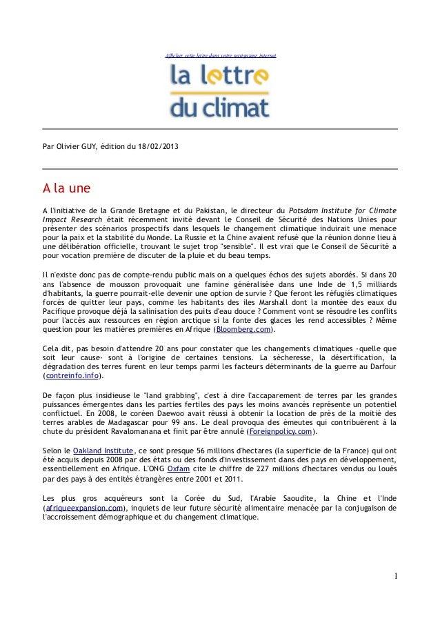 Afficher cette lettre dans votre navigateur internetPar Olivier GUY, édition du 18/02/2013A la uneA linitiative de la Gran...